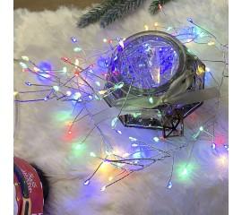 """Светодиодная гирлянда """"Сороконожка"""", 120 ламп, цветная, на батарейках"""