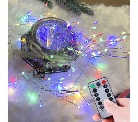 """Светодиодная гирлянда """"Сороконожка"""", 120 ламп, пульт ДУ, цветная, на батарейках"""