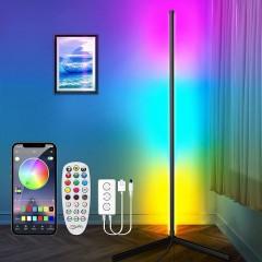 Світлодіодний кутовий торшер RGBIC (райдужний ефект), управління з смартфона або пультом ДК, синхронізація музики