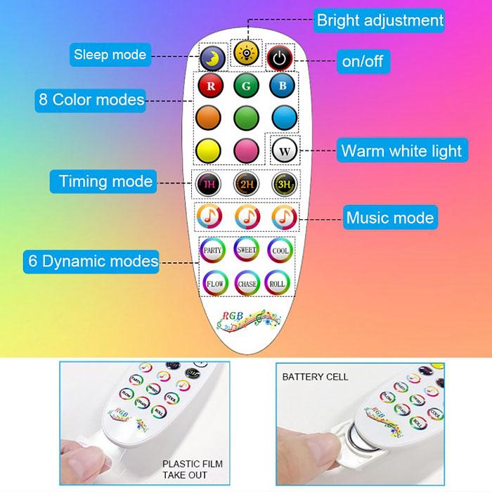 Cветодиодный угловой торшер RGBIC(радужный эффект), управление со смартфона или пультом ДУ, синхронизация музыки