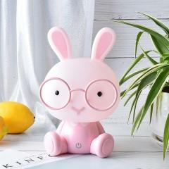 """Ночник """"Кролик в очках - розовый"""", 3 уровня яркости"""