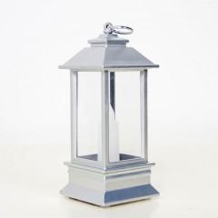 Фонарик со свечкой серебро 13 см