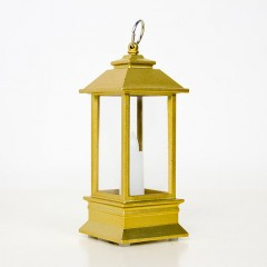Фонарик со свечкой, золото, 13 см