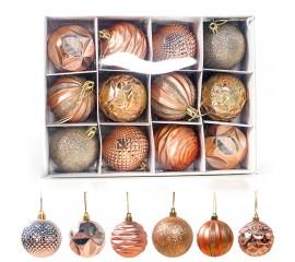 Набор новогодние шары 6 см - золото