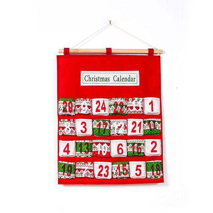 Адвент календарь красный
