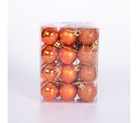 Набор елочных шаров 3 см - терракотовый