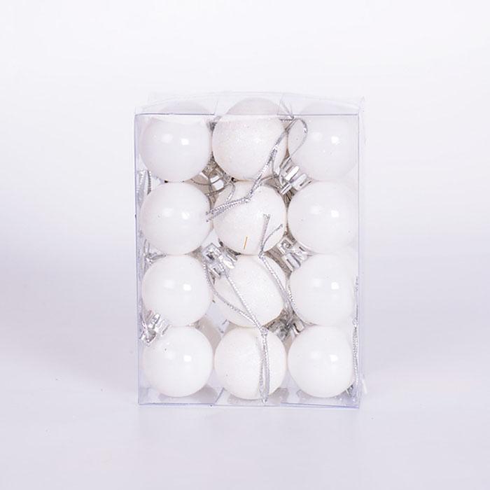 Набор елочных шаров 3 см - белый