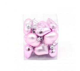 """Новогодние шары """"Сердечки розовые"""" 4 см"""