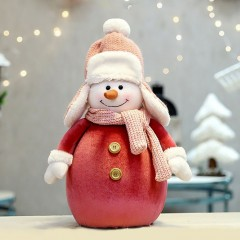 """Фигурка по елку """"Снеговик в красном 48 см"""""""