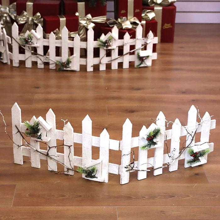 Забор декоративный белый 90 см