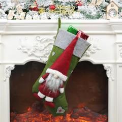 Рождественский носок с гномом 45 см