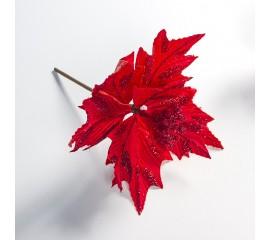 Пуансетия на ножке красная