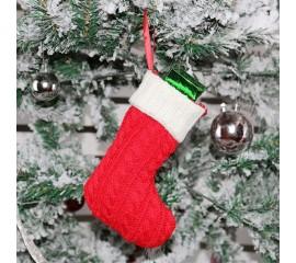 Рождественский носок красный - 19 см