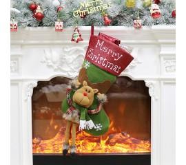 """Рождественский носок """"Олень"""" 43 см"""