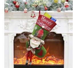 """Рождественский носок """"Санта"""" 43 см"""