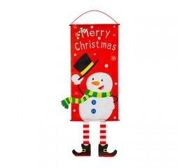"Панно ""Merry Christmas"" снеговик"