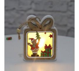 """Декор с подсветкой """"Подарок"""" 10 см"""