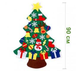 Фетровая елочка с накладными игрушками 90 см № 1