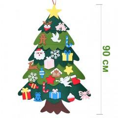 Фетровая елочка с накладными игрушками 90 см № 2