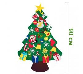 Фетровая елочка с накладными игрушками 90 см № 3