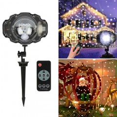 """Динамический светодиодный проектор """"Падающий снег"""""""