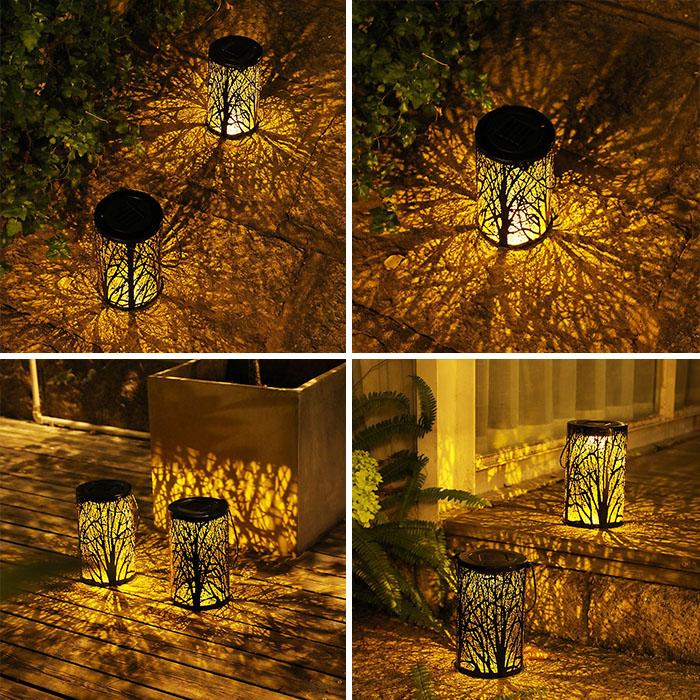 """Декоративный светильник """"Ажурный цилиндр"""", на солнечной батарее"""