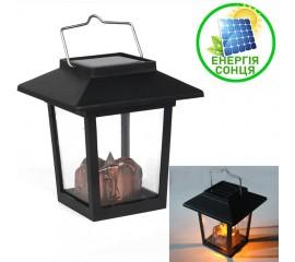 Ретро-фонарик с бронзовой свечей, на солнечной батарее, теплый белый свет