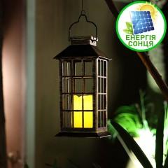 Уличный фонарь со светодиодной свечей, на солнечной батарее 443256