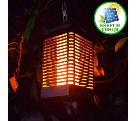 Декоративный фонарь с эффектом пламени, на солнечной батарее
