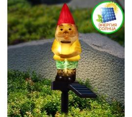 """Газонний світильник """"Гном"""", на сонячній батареї"""