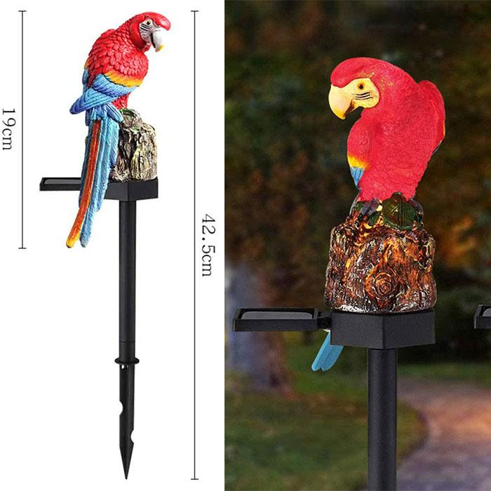 """Газонный светильник """"Попугай красный"""", на солнечной батарее"""
