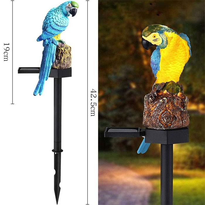 """Газонный светильник """"Попугай синий"""", на солнечной батарее"""