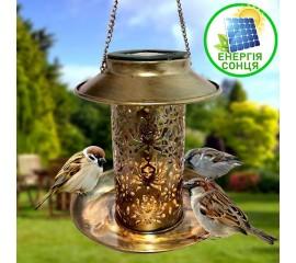 Светильник - кормушка для птиц, на солнечной батарее
