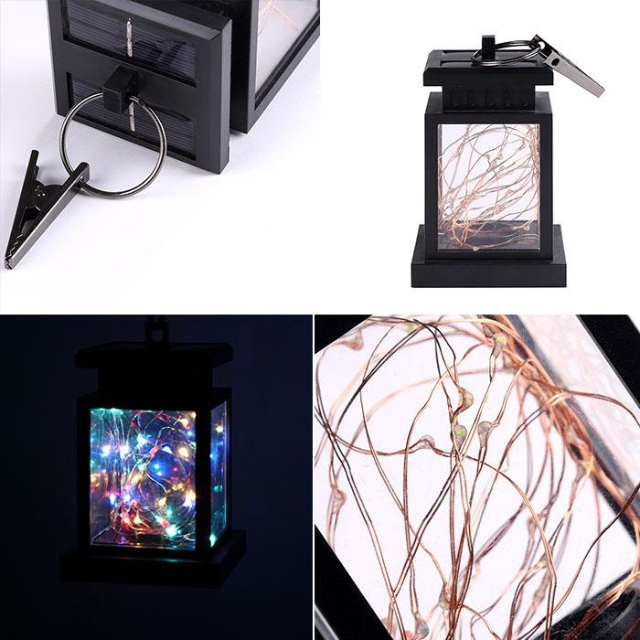 Подвесной фонарь на солнечной энергии, со светодиодными нитями, цветной - 30LED