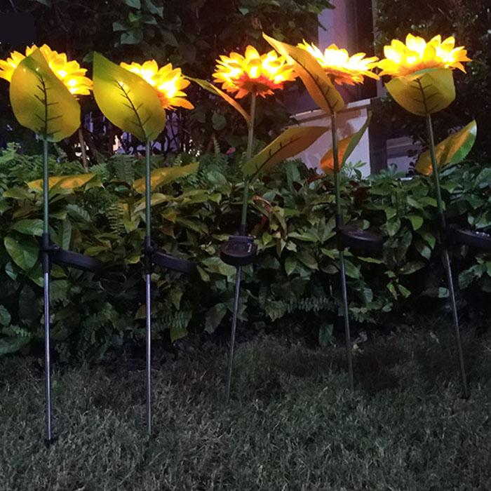 """Газонный декор """"Подсолнух"""" с подсветкой, на солнечной батарее"""