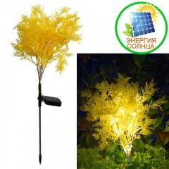 """Газонный декор """"Желтая травка"""" с подсветкой, на солнечной батарее"""