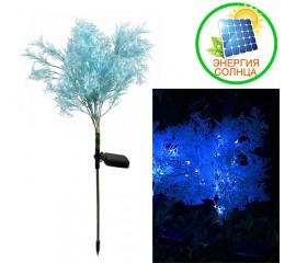 """Газонный декор """"Голубая травка"""" с подсветкой, на солнечной батарее"""