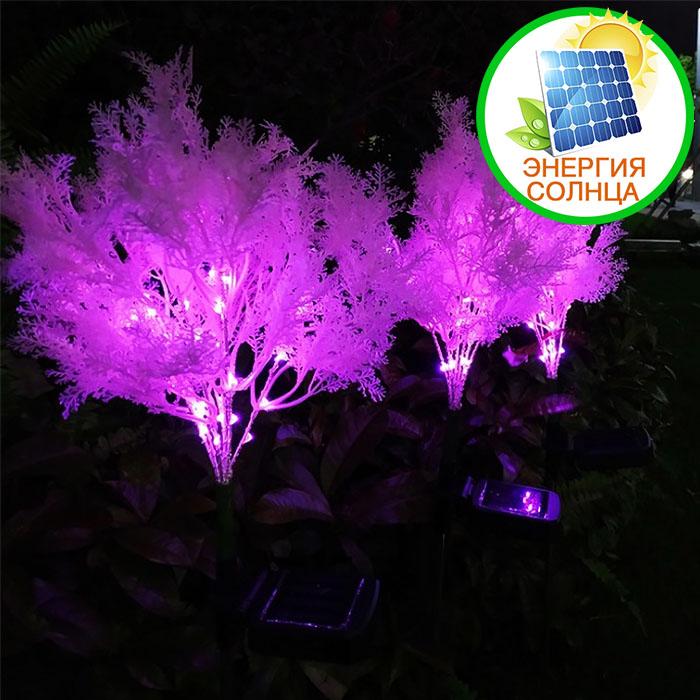 """Газонный декор """"Розовая травка"""" с подсветкой, на солнечной батарее"""