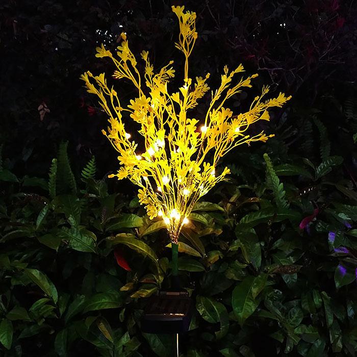 """Газонный декор """"Кувшинка желтая"""" с подсветкой, на солнечной батарее"""
