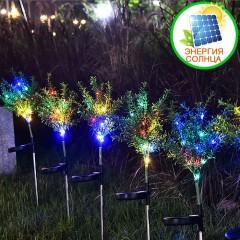 """Газонный декор """"Веточки"""" с подсветкой, на солнечной батарее"""