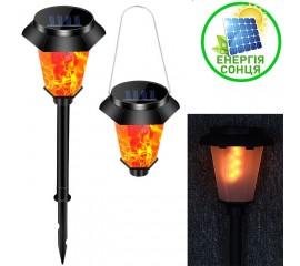 Газонный / подвесной светильник с эффектом горящего огня, на солнечной батарее