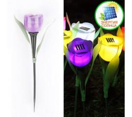 """Газонный светильник """"Мини тюльпан"""" на солнечной батарее, фиолетовый"""