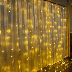 Светодиодная штора 6 х 3 м, теплый белый