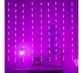 """Светодиодная штора """"Капли"""", фиолетовый"""