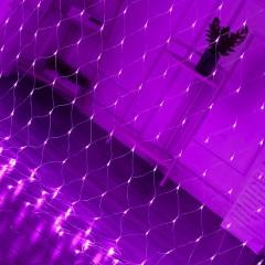 """Гірлянда """"Сітка"""", 1,5 х 1,5 м, 96 led, фіолетовий"""