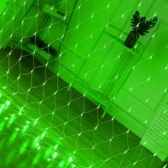 """Гірлянда """"Сітка"""", 1,5 х 1,5 м, 96 led, зелений"""