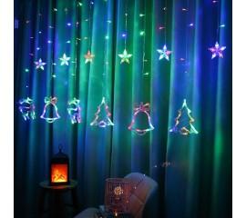 "Светодиодная штора ""Новогодний микс"", 2,5 х 0,8 м,  цветная"