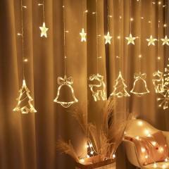 """Светодиодная штора """"Новогодний микс"""", 2,5 х 0,8 м, теплый белый"""
