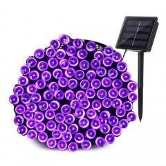 """Солнечная гирлянда """"Стринг"""" 200 светодиодов, 22 м, фиолетовый"""