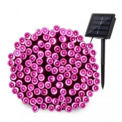 """Солнечная гирлянда """"Стринг"""" 200 светодиодов, 22 м, розовый"""